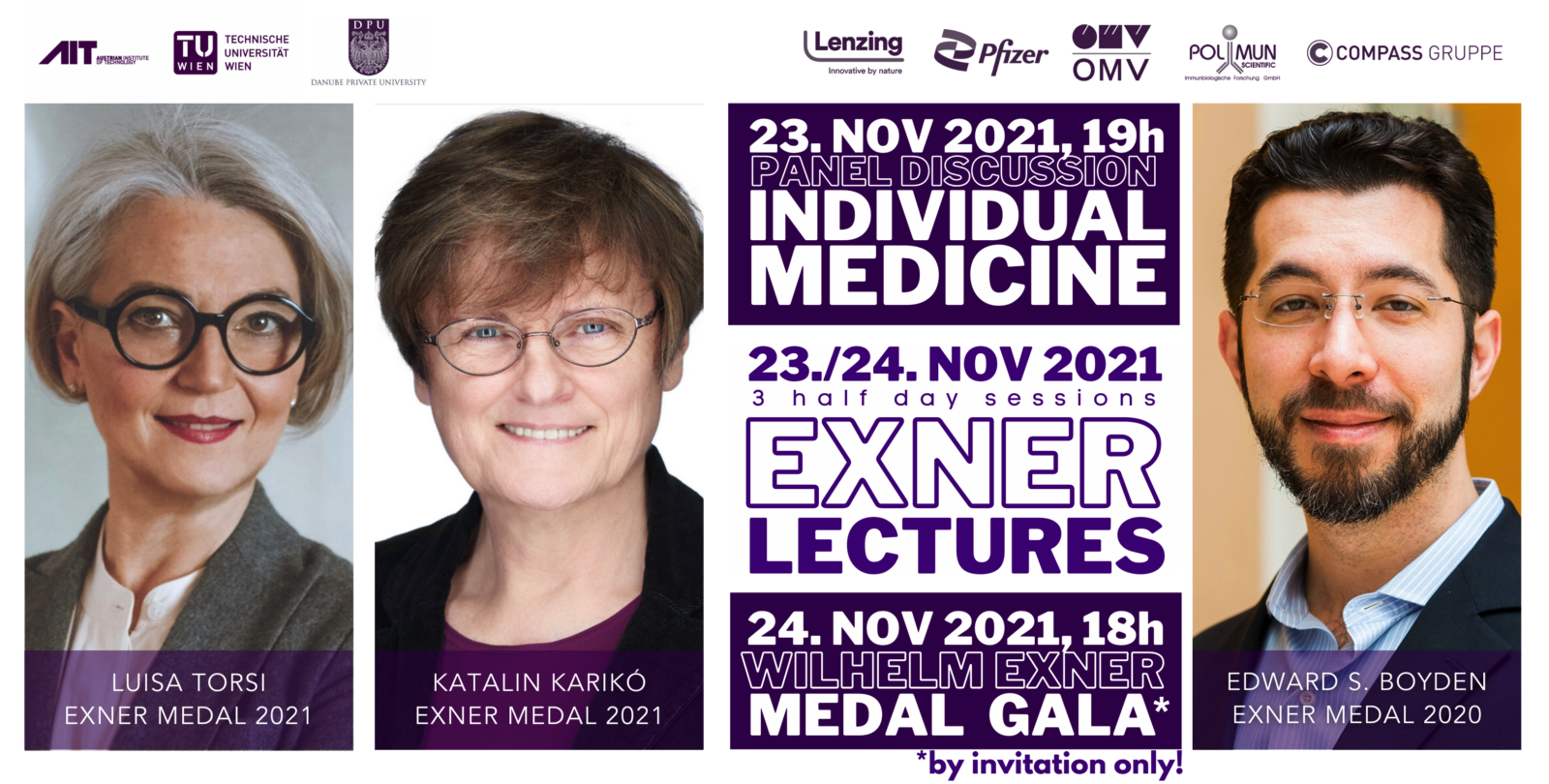 Save the date Exner Lectures 2021